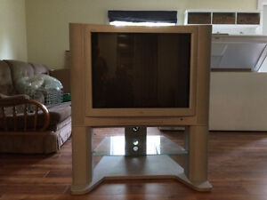 """Old Style (Tube) 32"""" Flat Screen TV with Stand"""