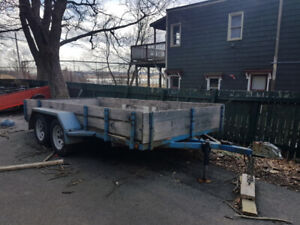 7000lb Tandem axle Trailer with electric brakes.  $2000.00