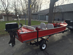 14' Aluminum Goods boat COMPLETELY RESTORED with trailer