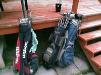 Golf Clubs and and Bags