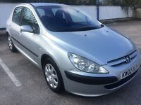 2002 PEUGEOT 307 1.4 ONLY 59,000 MILES, **MOT JULY 2017**NEW CLUTCH, DRIVES GREAT