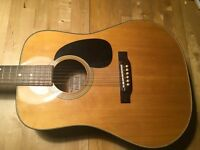 Vintage Japanese Dreadnought Acoustic Guitar - low action MIJ Yairi