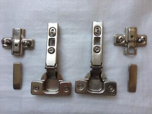Furniture / Cabinet Door metal nickel Hinges 1 pair (2 set) = $4