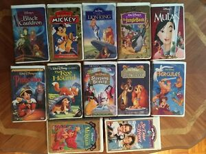 VHS Disney Movies - Reduced to $65.00 firm