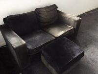 Sofa + pouff