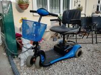 Mobility scooter, resprayed blue, new batteries, excellent condition