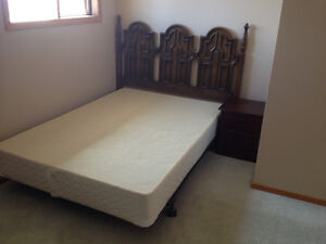 single bed with mattress, frame & head