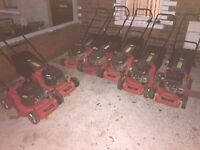 Joblot of 10 lawnmowers all soverign