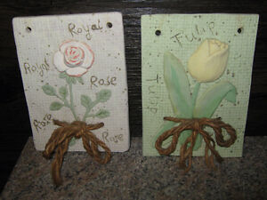 TWO CERAMIC WALL HANGINGS