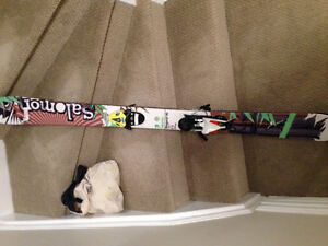 Solomon Youth skis and boots