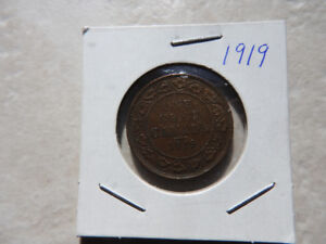 1919 Large Canadian Penny
