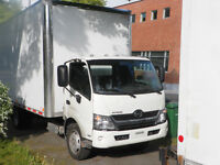 louer camion tout inclu chauffeur ,gas30$/h/taxes incluses