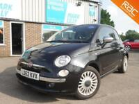 2012 Fiat 500 0.9 ( 85bhp ) automatic LOUNGE BLACK ONLY 19,000 MILES ! FREE TAX