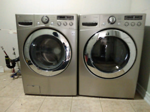 LG high end washer and dryer laundry pair