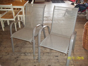 Two (2) Metal Frame Patio Sling Chairs