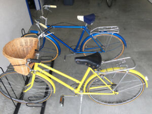 His & Hers Bicycles with Bicycle Rack for Sale!