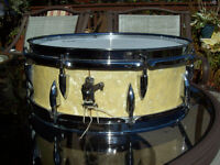 VINTAGE WOOD SHELL SNARE DRUM BY AJAX