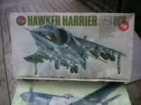 Airfix 1/24 Hawker Harrier Jump Jet Model Kit Started.