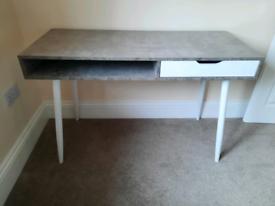 Habitat desk Grey and white brand new
