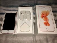 iPhone 6s 64gb Rose Gold Unlocked in super condition. Boxed with unused earphones cable etc.