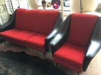 1950s sofa and armchair vintage retro 1960s immaculate condition