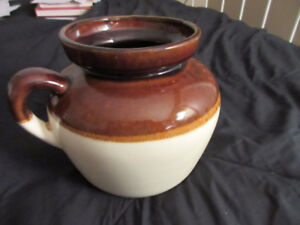 Vintage RRP Pottery Roseville Ohio brown and cream jug