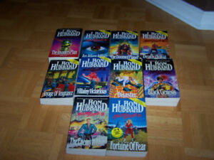 10 L. RON HUBBARD softcover Books -Complete MISSION EARTH SERIES