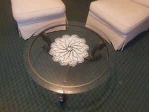 Imported matching coffee and accent tables