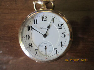 Hamilton 956 Pocket Watch from 1915 London Ontario image 1