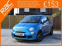 2015 Fiat 500 1.2 S 5 Speed Bluetooth Air Con Just 1 Lady Owner Only 6,000 Miles