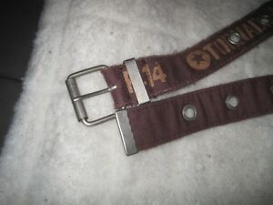 Distressed Military Themed Cloth Belt - Size Waist 30-32