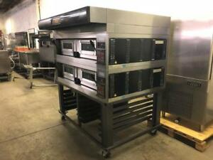 Electric double stackable Moretti forni pizza  ovens