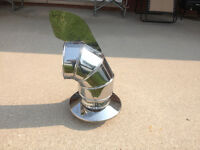 Wind directional stainless steel chimney flue brand new