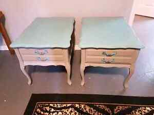Chalk painted Night stand or End Tables