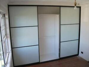 Complete Built-In Wardrobe up to 3600mm Black Panel doors install Warwick Farm Liverpool Area Preview