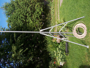 Tripod, 5 foot, steel, 10 foot pole