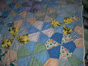 PATCH QUILT HAND QUILTED SIZE DOUBLE BED 59'' X 70'' Stratford Kitchener Area image 3