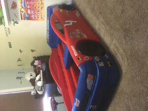 Sears car bed, toy box and storage cabinet