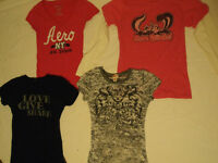 4 Girls T-Shirts for 5 BUCKS!!   Size Small and X-small