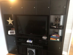 TV Cabinet multimedia unit Ikea expedit with inserts