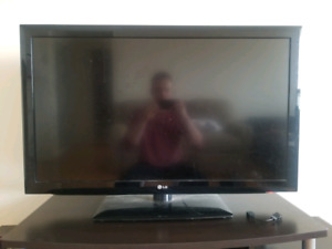 "Black LG 42"" flat screen TV"