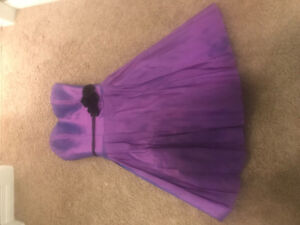Beautiful purple bridesmaid dress. Colours by Kenneth Winston.