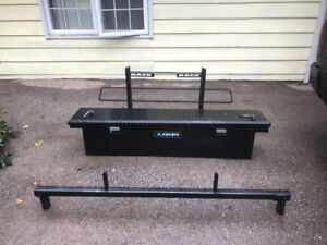 Back rack and tool box combo
