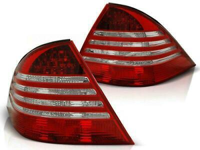 Klarglas Rückleuchten Heckleuchten Mercedes Benz S-Klasse W220 98-05 rot/klar