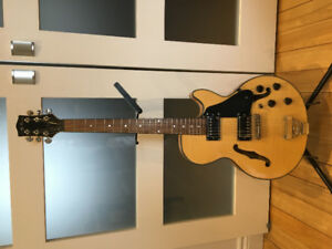 Jay Turser semi hollow Les Paul guitar with hard case