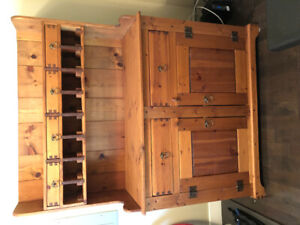 Unique SOLID pine cabinet with old dove tailing features
