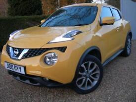 2014 Nissan Juke 1.6 Xtronic CVT Automatic Tekna, Yellow, 36500, FSH, 1 Owner