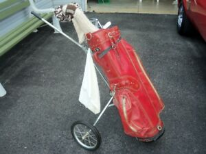 GOLF CLUBS & PULL CART FOR SALE