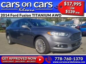 2014 Ford Fusion TITANIUM AWD w/Leather, EcoBoost, BlueTooth $13