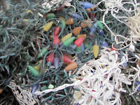 Unwanted, unused , or broken Christmas lights and power cords